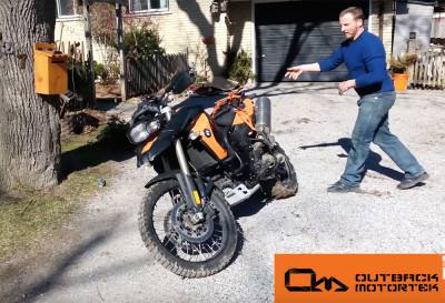 Wrecking Of A Bmw F800gs Review Outback Motortek