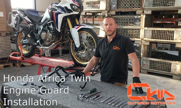 Engine guards installation by Outback Motortek