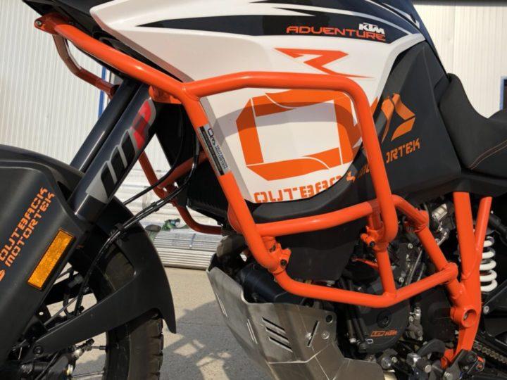 KTM upper crash bars – now factory KTM orange!