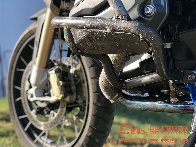 BMW R1200GS LC and R1250GS crash bars development and testing
