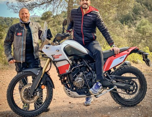 Pol Tarres, the star of Seeker 1 rides with Outback Motortek